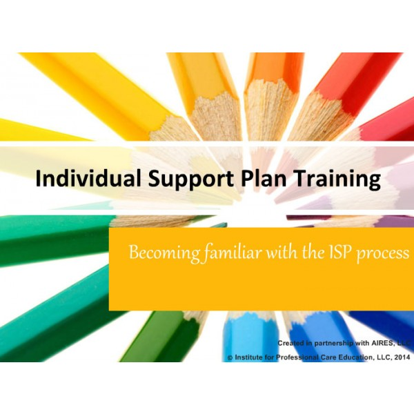 individual support plans for the developmentally disabled