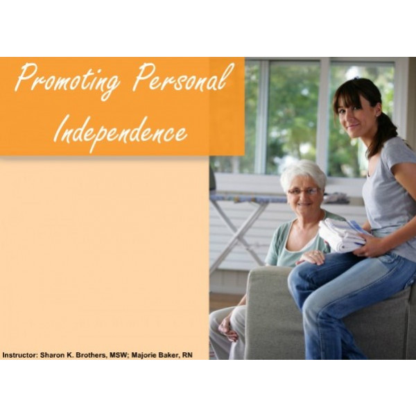 Promoting Personal Independence