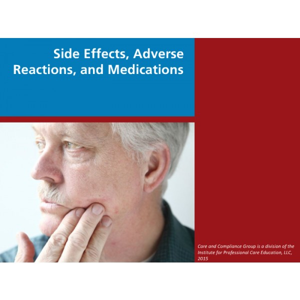 Side Effects Adverse Reactions And Medication Errors