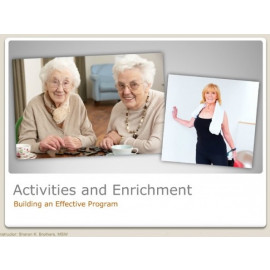 Building an Effective Activities Program