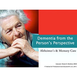 Dementia from the Person's Perspective