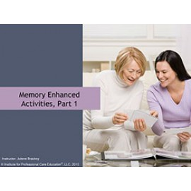 Memory Enhanced Activities, Part 1