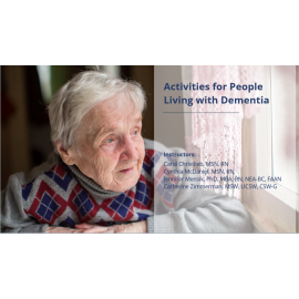 Activities for People Living with Dementia