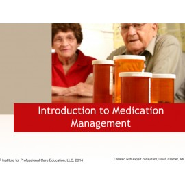 Introduction to Medication Management