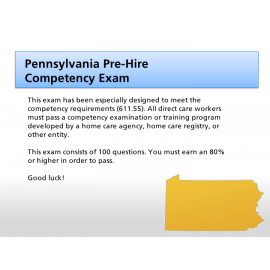 Pennsylvania Pre-Hire Competency Exam